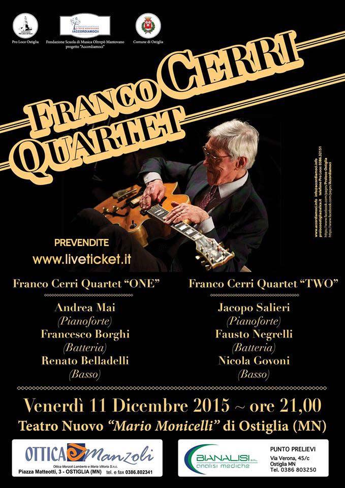 Franco Cerri Quartet al Teatro Nuovo Mario Monticelli di Ostiglia
