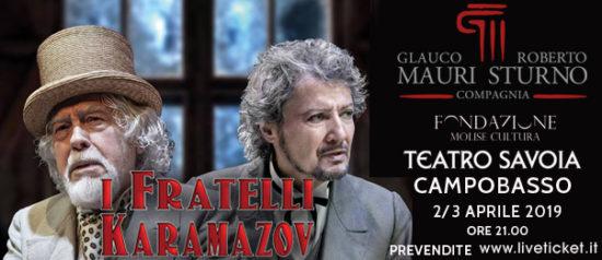 "Glauco Mauri e Roberto Sturno ""I fratelli Karamazov"" al Teatro Savoia di Campobasso"