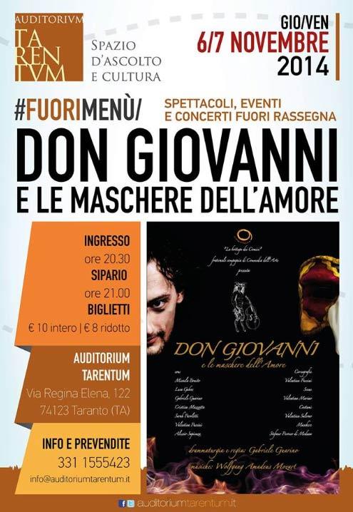 Don Giovanni e le maschere dell'Amore