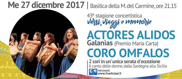 Concerto di Natale con Actores Alidos e Coro Omfalos alla Basilica Madonna del Carmine a Catania