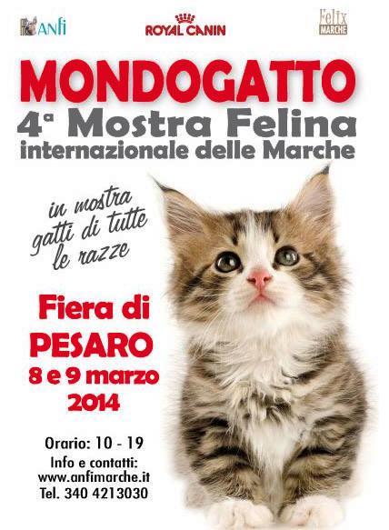 Mondogatto Mostra Felina Internazionale delle Marche a Pesaro Fiere