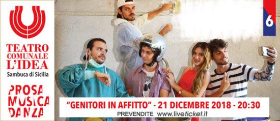 Genitori in affitto al Teatro L'Idea a Sambuca di Sicilia