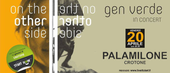 "Gen Verde concerto ""On the Other Side"" al Palamilone a Crotone"