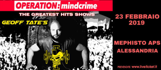 Geoff Tate - Operation: Mindcrime - The Greatest hits show al Mephisto Asp ad Alessandria