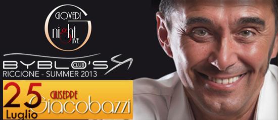 Giuseppe Giacobazzi al Byblo's Club Riccione