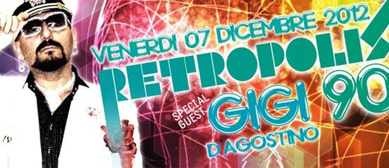 Retropolis anni 90! Gigi D'Agostino al Velvet di Rimini