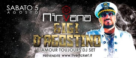 """Gigi D'Agostino """"l'Amour Toujours dj set"""" al Nirvana Discoteque"""
