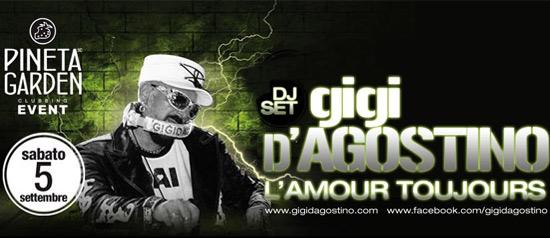 Gigi D'agostino al Pineta Garden Clubbing a Sassocorvaro
