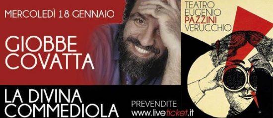 """Giobbe Covatta """"La Divina Commediola"""" al Teatro Pazzini di Verucchio"""
