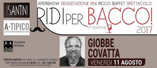 """""""Ridi per Bacco!"""" Giobbe Covatta alla Tenuta Santini a Passano di Coriano"""