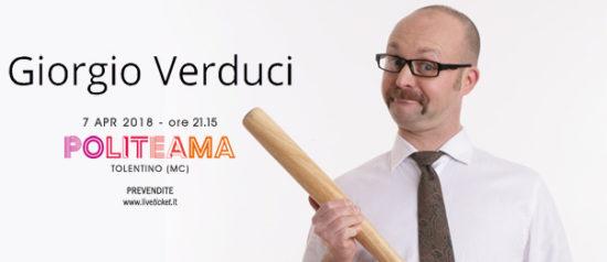 """Giorgio Verduci """"Prove di Giò"""" al Politeama di Tolentino"""