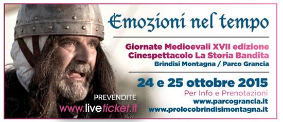 Giornate Medioevali 2015 - La storia bandita limited edition al Parco Grancia di Brindisi Montagna