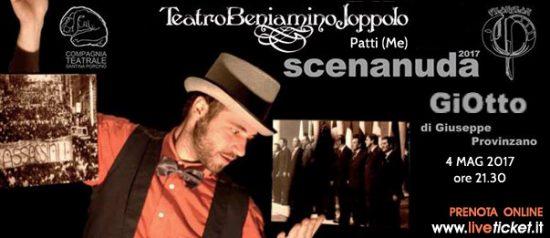 """Giuseppe Provinzano """"GiOtto"""" al Teatro Beniamino Joppolo di Patti"""