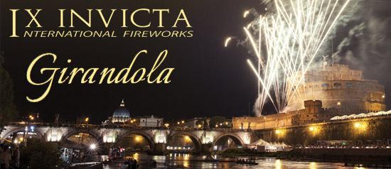 Fuochi d'artificio a Roma, per la Girandola di Castel Sant Angelo