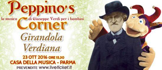 """Peppino's corner """"Girandola verdiana"""" alla Casa della Musica a Parma"""