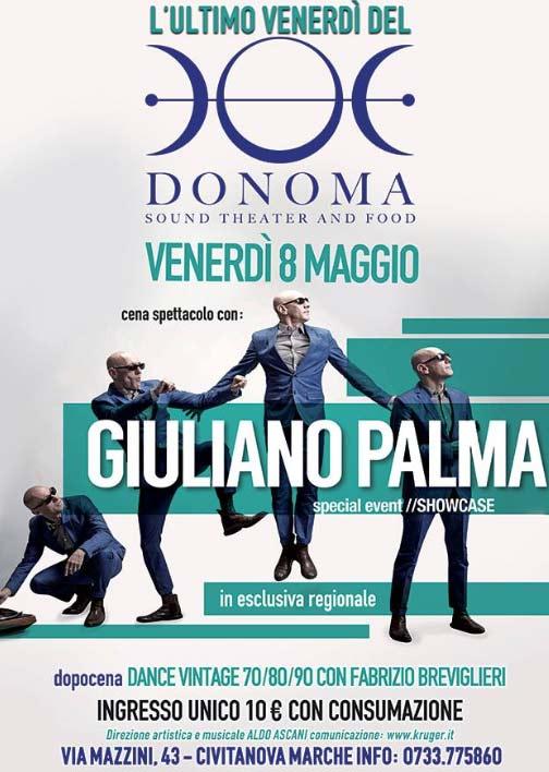 Giuliano Palma al Donoma di Civitanova Marche