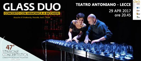 Glass duo al Teatro Antoniano di Lecce