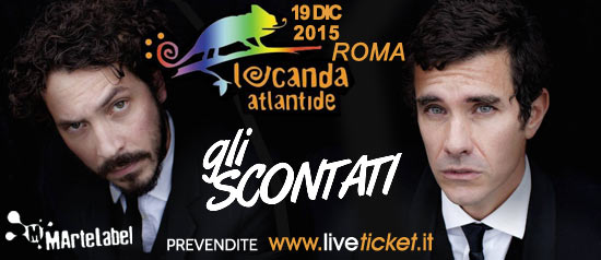 Gli Scontati in concerto alla Locanda Atlantide a Roma