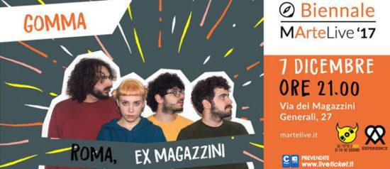 Gomma - Biennale MarteLive '17 agli Ex Magazzini a Roma