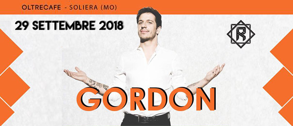 Renegade presents Gordon all'Oltrecafè a Soliera