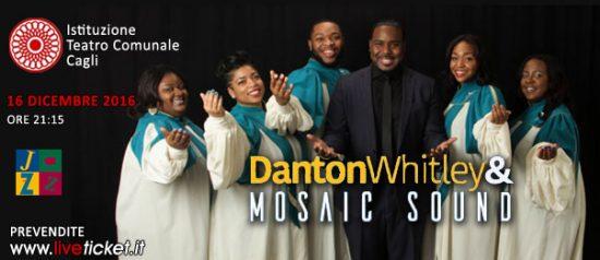 """Concerto Gospel """"Danton Whitley & Mosaic Sound"""" al Teatro di Cagli"""