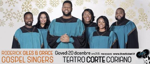 Concerto Gospel Roderick Giles & Grace gospel singers al Teatro CorTe di Coriano