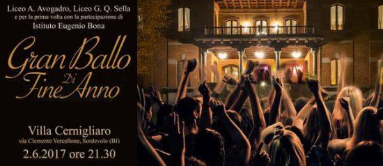 Gran Ballo di fine anno a Villa Cernigliaro a Sordevolo
