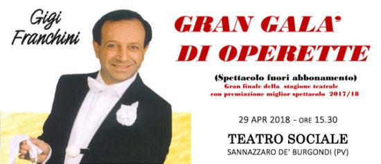 Gigi Franchini - Gran galà dell'Operetta al Teatro Sociale a Sannazzaro de' Burgondi