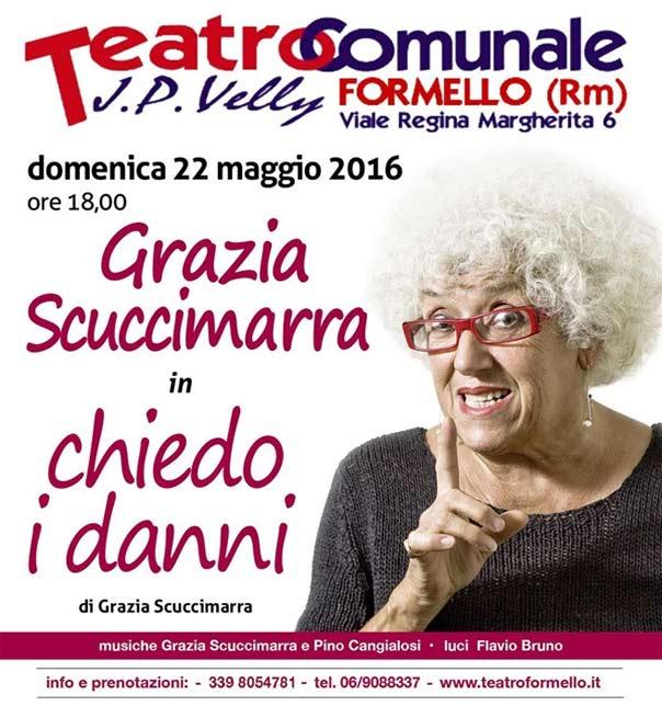 """Grazia Scuccimarra """"Chiedo i danni"""" al Teatro Comunale di Formello"""