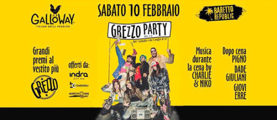 Baretto - Grezzo Party al Galloway Fano