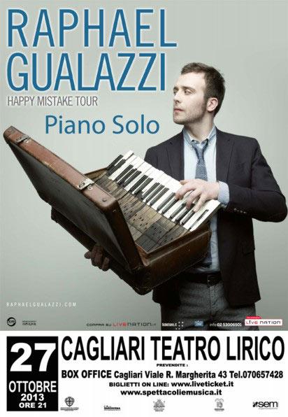 """""""Raphael Gualazzi - Piano Solo"""" Happy Mistake Tour 2013 al Teatro Lirico di Cagliari"""