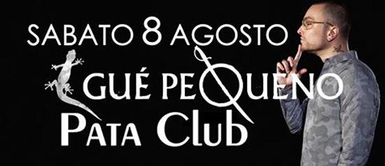 Gue Pequeno al Pata Club a Budoni