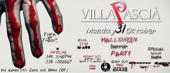 Halloween Horror Show al Villa Pascià di Olbia