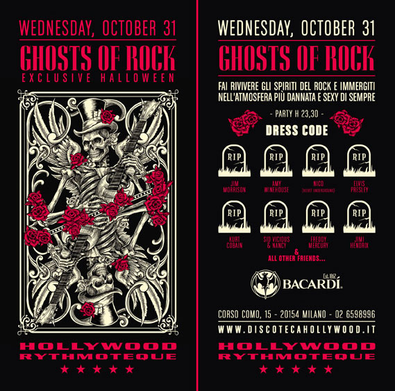 Gost of Rock Exclusive Halloween - Hollywood Milano
