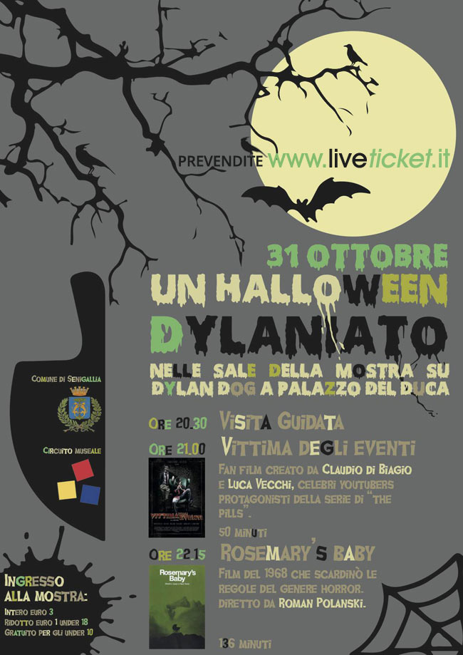 "Un Halloween Dylaniato"" alla mostra Dylan Dog a Senigallia"