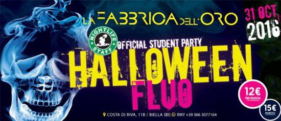 Halloween Fluo a La Fabbrica dell'Oro a Biella
