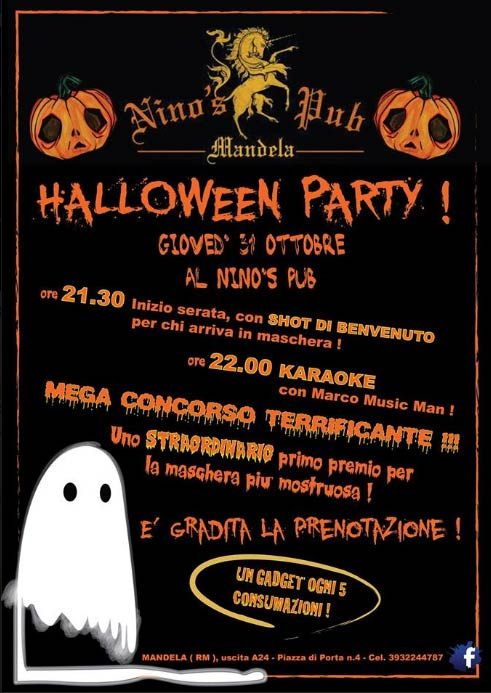 Halloween Party2013 @Nino'sPub a Mandela