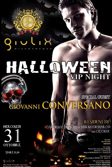 Giulix presenta Halloween VIP Night Special Guest Giovanni Conversano