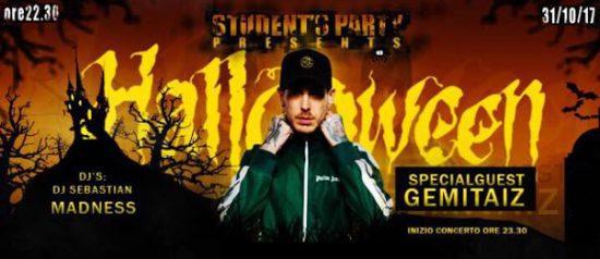 Student's Party presenta Halloween night w// Gemitaiz al Golf Club di Salice Terme