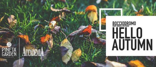 Hello Autumn al Bocciodromo comunale a Sant'angelo Vado