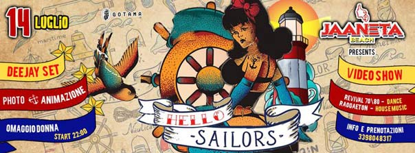 Hello sailors al Jaaneta Beach a Giardini Naxos