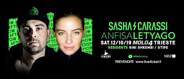 "Helpiscoming Barcolana After Show ""Anfisa Letyago x Sasha Carassi"" al Molo IV a Trieste"