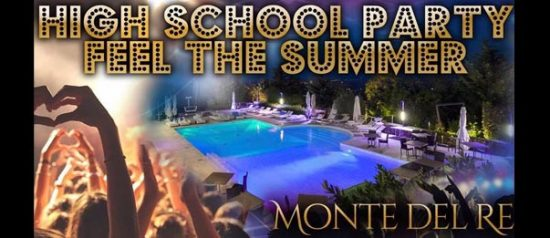High School Party 2017 all'Hotel Monte del Re di Dozza