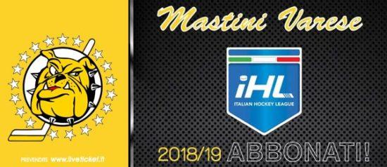 Mastini Varese - Campionato serie B Stagione 2018/19