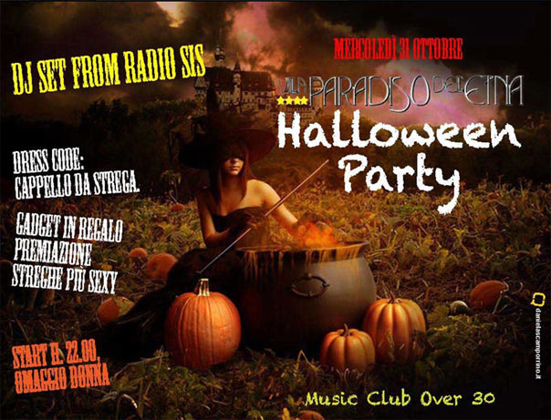 """Halloween Party"" all Hotel Villa Paradiso dell' Etna"