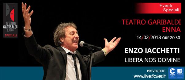 """Enzo Iacchetti """"Libera Nos Domine"""" al Teatro Garibaldi di Enna"""