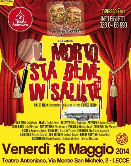 """""""Il morto sta bene in salute"""" al Teatro Antoniano di Lecce"""