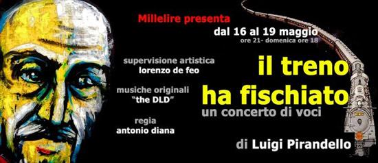 """""""Il Treno ha fischiato"""" concerto di voci al Teatro Millelire di Roma"""
