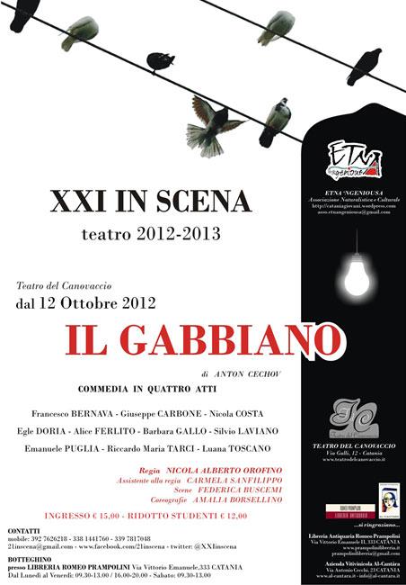 """""""Il gabbiano"""" al Teatro del Canovaccio di Catania"""