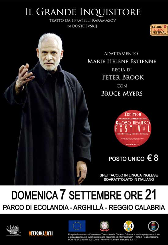 Il grande inquisitore al Globo Teatro Festival a Reggio Calabria